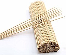 200 Pointed Bamboo SKEWERS Wooden Kebab BBQ Fruit
