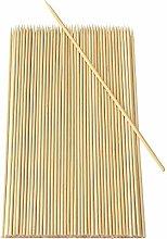 200 Pointed Bamboo SKEWERS Wooden Kebab BBQ Fruit