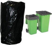 200 x Heavy Duty Wheelie Bin Bags/Black