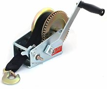 2000lb Hand Boat Winch with 8m Webbing Strap