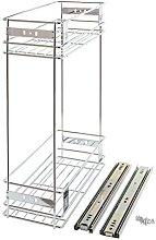 200mm Slide Pull Out Wire Basket Kitchen Larder
