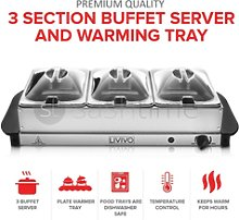 200w Temperature Adjustable Hot Plate Tray S/s