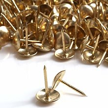 200x Brass Decorative Upholstery Nails - 10mm