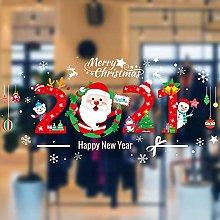 2021 Santa Claus decorates Christmas Stickers