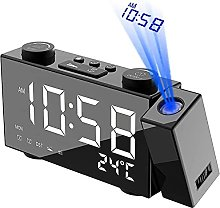 2021Projection Alarm Clock For Bedrooms 6-Inch Led