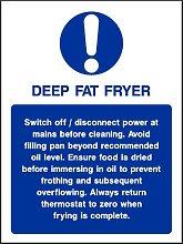 20cmx15cm Deep Fat Fryer Sign [Sticker Self