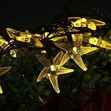 20ft 20 LED Solar Outdoor String Lights,Starfish