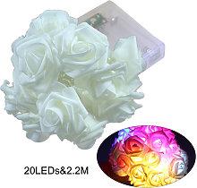 20LEDs Lamp String 2.2M Rose Christmas Holiday