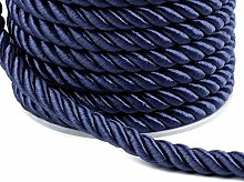 20m Blue Dark Twisted Cord Ø7mm, Cords and Blinds