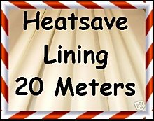 20m Deluxe Cream Heatsave Thermal Curtain Lining