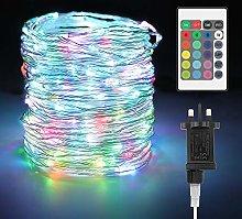 20M LED Fairy Lights Plug in 16 Multi-Color