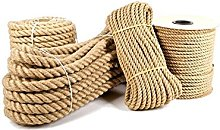 20mm Pure Jute Rope Twisted Cord braided Garden