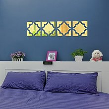 20pcs Acrylic Mirror Wall Sticker Removable Decal