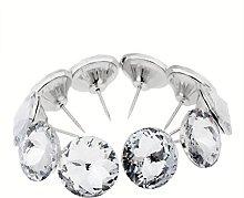 20pcs Diamond Crystal Upholstery Nails Tacks Sofa