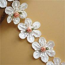 20pcs Flower Lace Ribbon Edge Trim with Mini