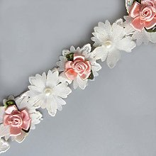 20pcs Flower with Beads Pearl Mini Coloured Buds 2