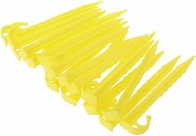 20Pcs Garden Plastic Stakes Tent Pegs for Holding