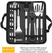 20PCs Grill Tool Set Thickened Stainless Steel BBQ