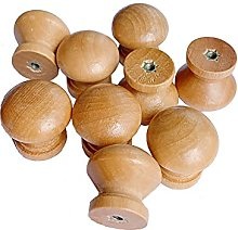 20Pcs Wood Drawer Handles Furniture Knobs