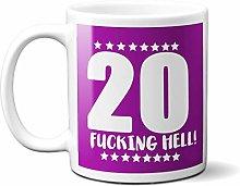 20TH Birthday F**King Hell Purple - White 15oz