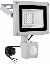 20W LED Floodlight with Motion Sensor Security