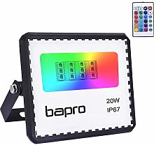 20W LED RGB Floodlights with Remote Control, IP67