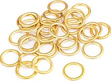 20x Brass Hollow Palstic Rings 16mm Upholstery