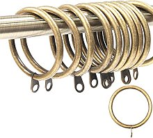 20x Large Curtain Rings Antique Brass - 42mm Inner