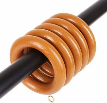 20x Medium Brown Wooden Curtain Rings with 45mm