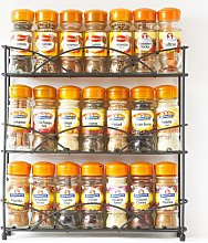 21 Jars Free-Standing Spice Rack Marlow Home Co.