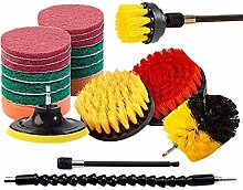 21 Piece Drill Brush Attachments Set Scrub Pads