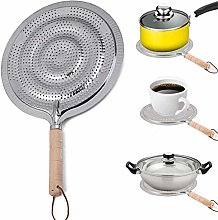 21CM Heat Diffuser With Wood Handle,Reducer Flame