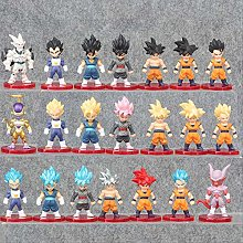 21Pcs/Set Super Saiyan God Action Figure Son Gohan