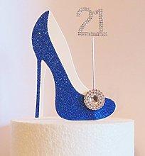 21st Birthday Cake Decoration Royal Blue Shoe with