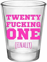 21st Birthday Shot Glass-Novelty Gifts for 21st