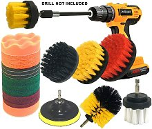 22 Piece Drill Brush Attachment Kit Electric