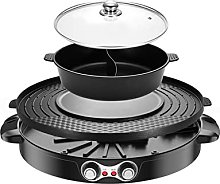 2200W Electric Smokeless Grill and Hot Pot Grill
