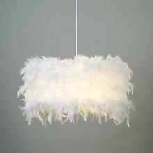 Ø22cm Pure White Feather Pendant Light Creative