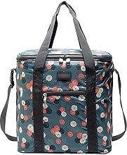 22L Flower Pattern Waterproof Oxford Cooler Bag