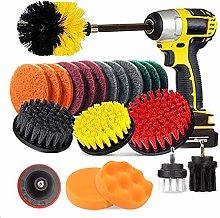 22pcs Electric Drill Brush Scrub Pads Kit Power