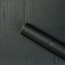 23.6' X 393.7' Black Wallpaper Wood Peel