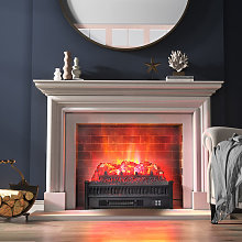 23 inch Electric Log Set Fireplace with Realistic