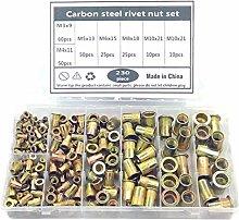 230Pcs/Set M3/M4/M5/M6/M8/M10 Multi Size Carbon