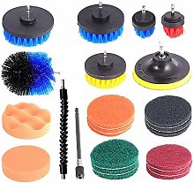 23pcs Cleaning Drill Brush Cleaner Combo Tool Kit