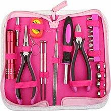 23Pcs Home Ladies Pink Tool Kit Set,Home DIY