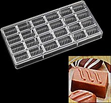 24 Holes Square Stripe Polycarbonate Chocolate