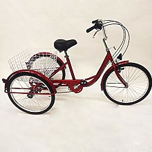 24 Inch 3 Wheels Basket Tricycle Adult Tricycle