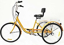 24 Inch 6 Speed Tricycle Adult Bicycle Cruise