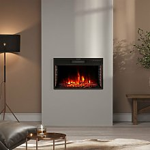 24 inch Electric LED Fireplace Wall Inset Mounted