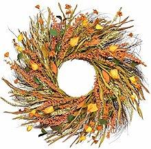 24 inch Fall Wreath Front Door Wreath Grain Wreath